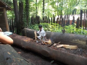 070615 Cherokee canoe making