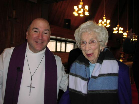My last picture of Mom with Pastor Bell  2007