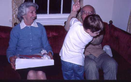 Mom, Dad, grandson John $