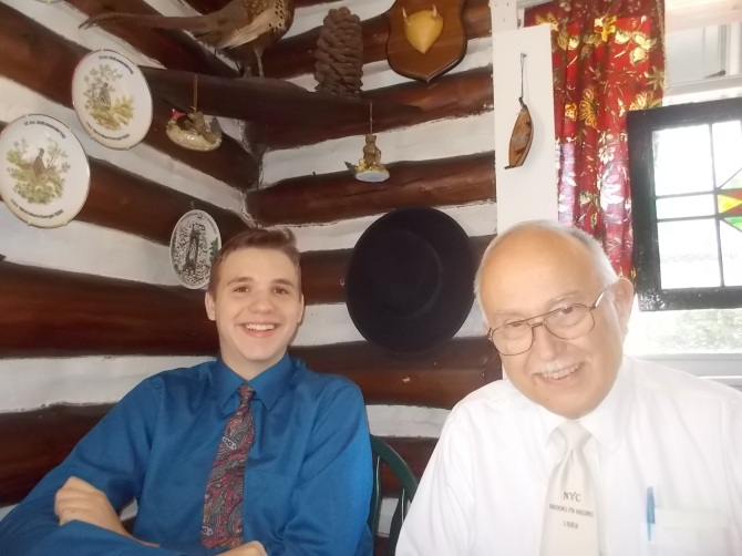 080315 N JC at Bavarian restaurant