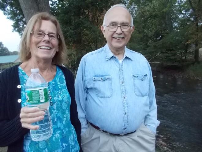 John and Karen at the creek