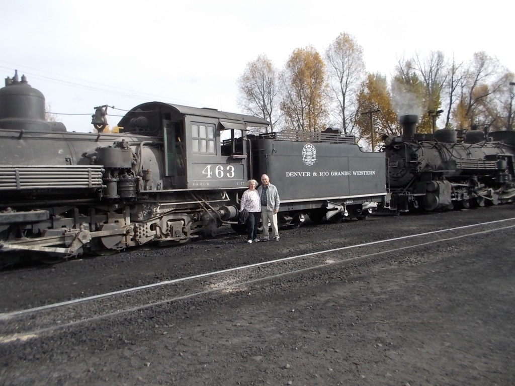 John and I in front of one of the engines