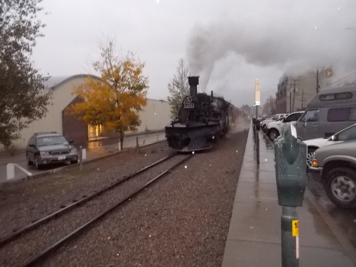 Durango engine returns in rain