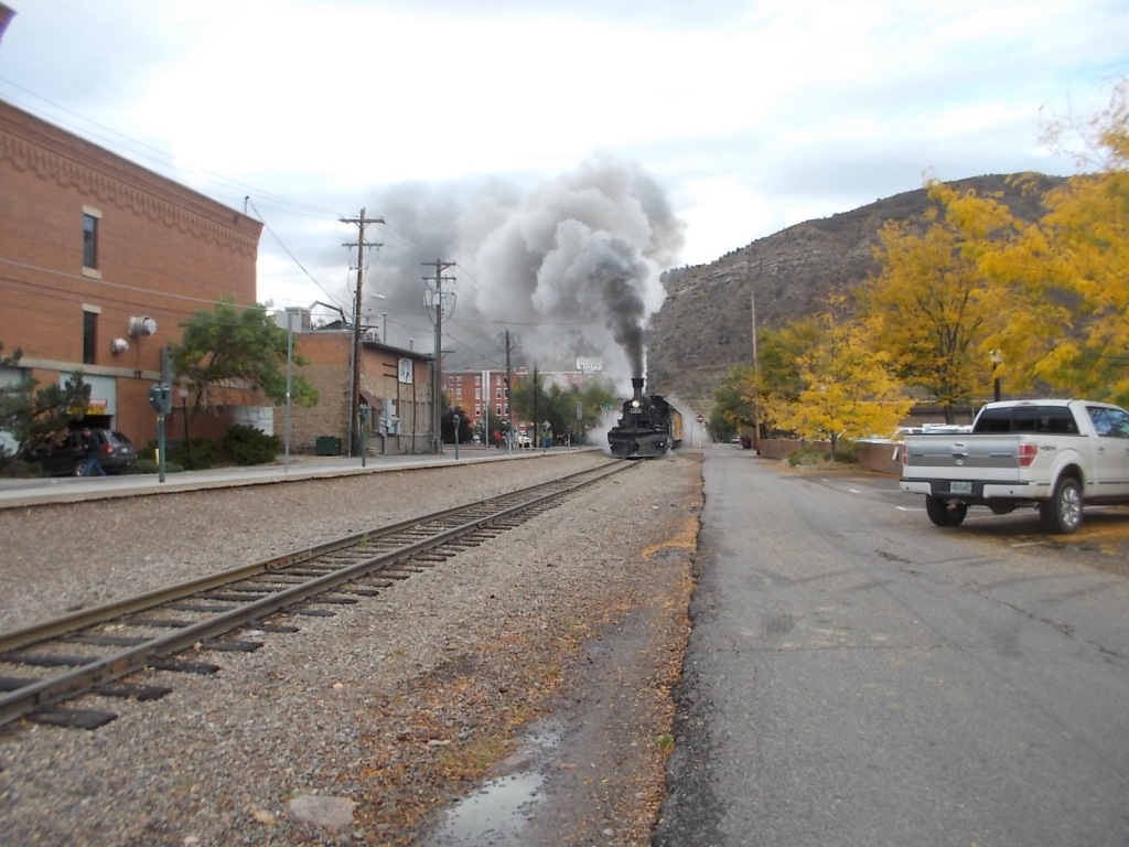 Durango train leaving station