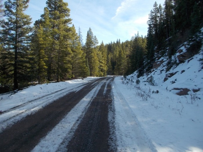 Snow on the gravel road