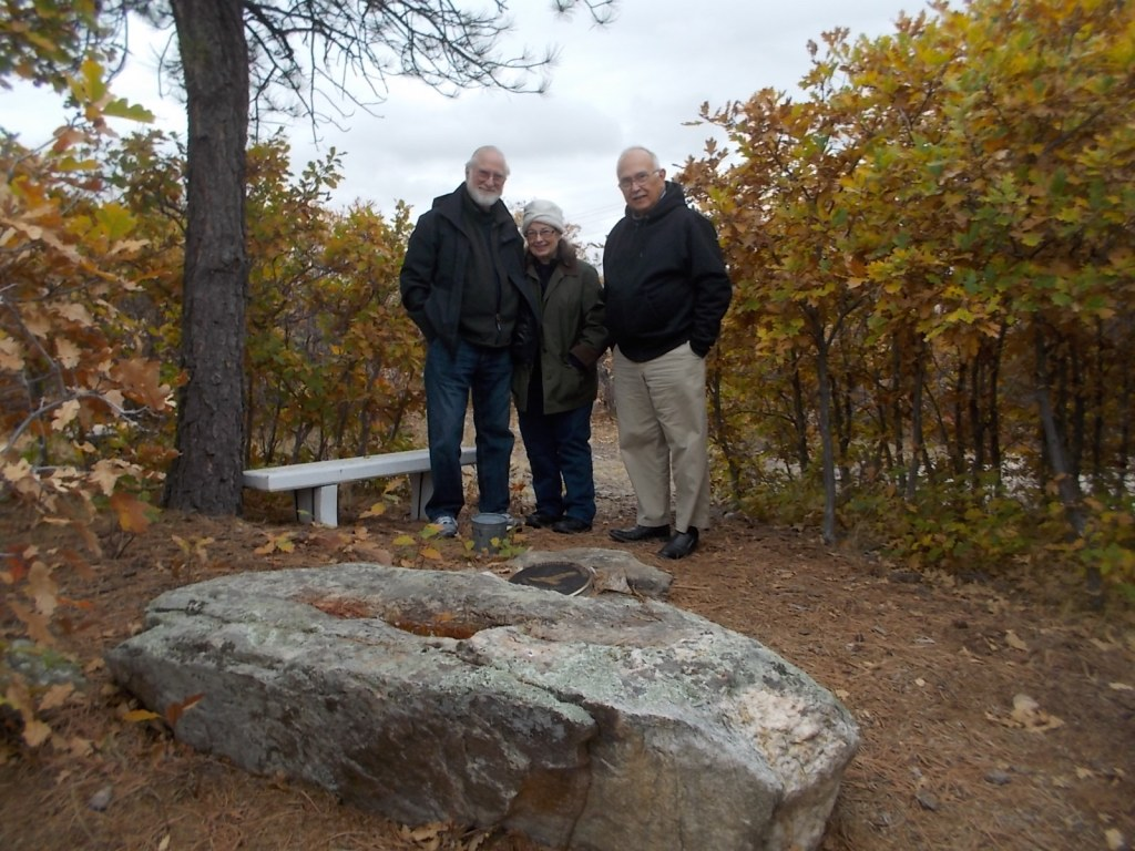 Tom, Janet, and John at Andrew's grave