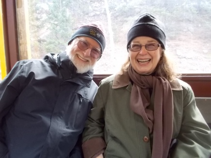 Tom and Janet on train