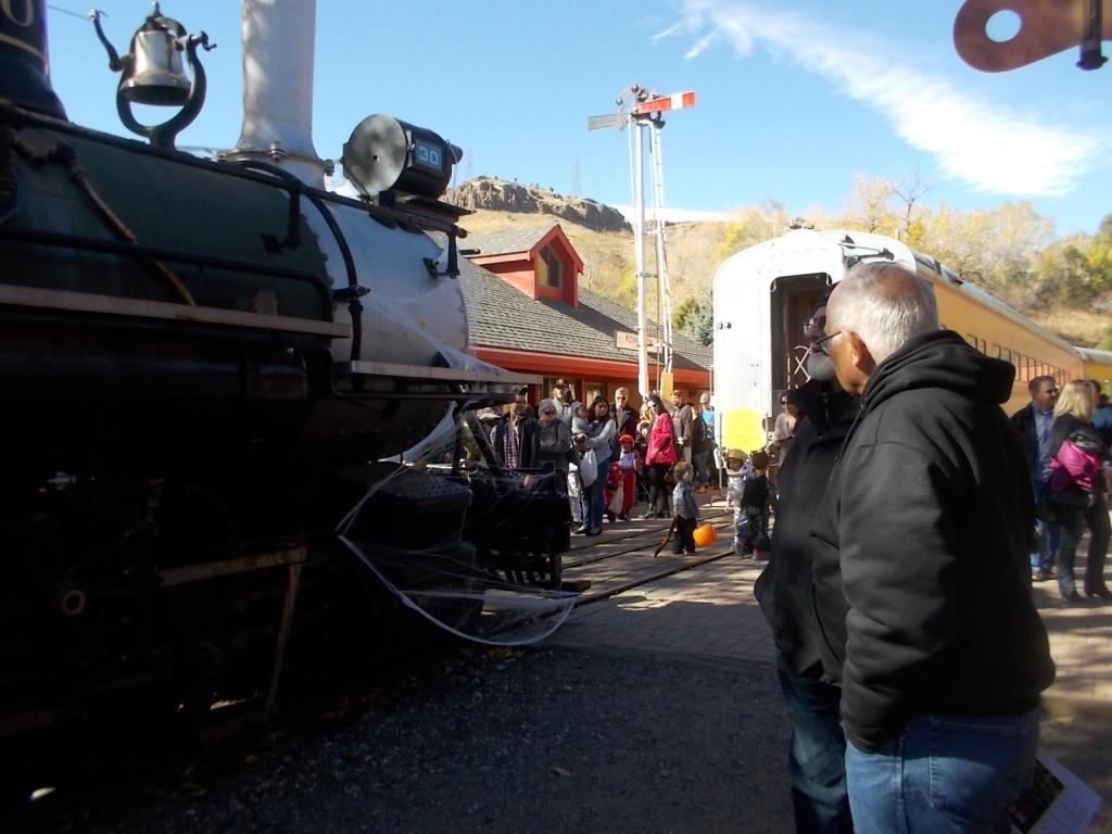 John at the Colorado Train Museum