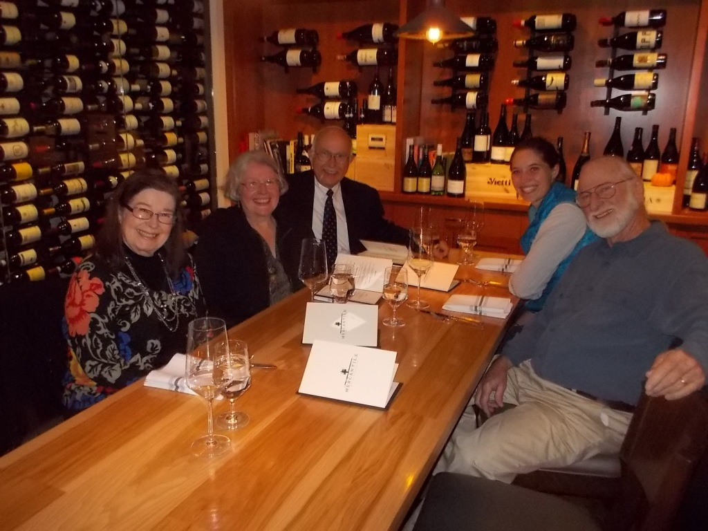 Janet, Anne, John, Anna, and Tom in Union Station restaurant