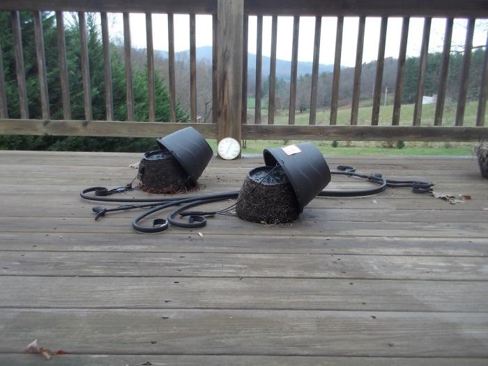 Pots decked by intruder