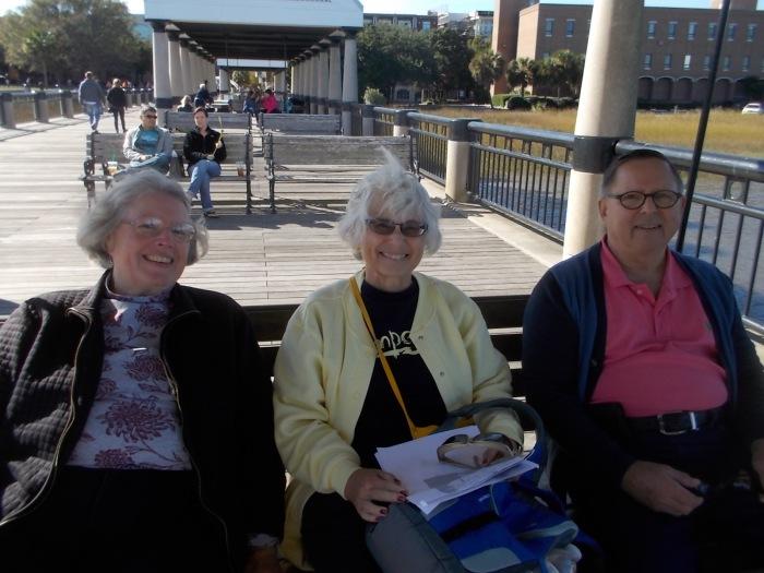 111415 Anne Chris Steve on pier swing
