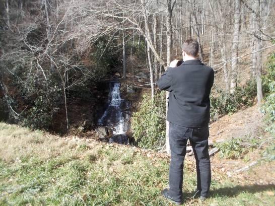 Chris near upper area of cascades