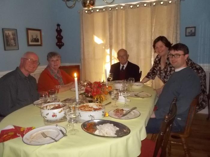 112615 Bob Beth JC L Chris Thanksgiving dinner.JPG