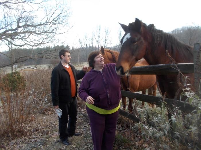 112615 Chris Lise pet horses.JPG