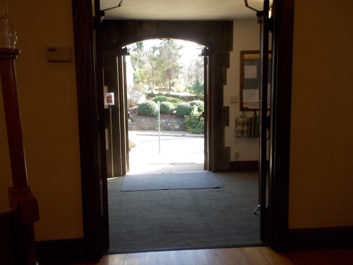 122715 Church door open in warm weather.JPG