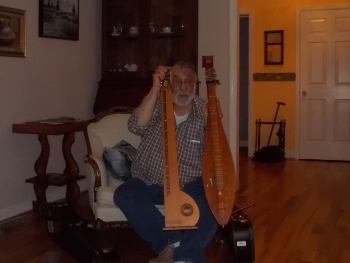 Peter with instruments.JPG