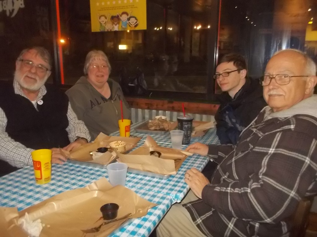 010417 Pete Debbi David JC at Dickey's BBQ.JPG