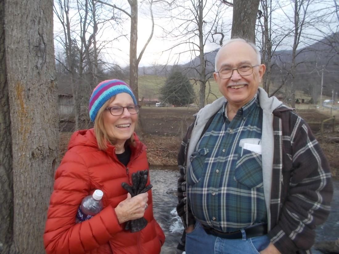 011217 Karen and John at creek.JPG