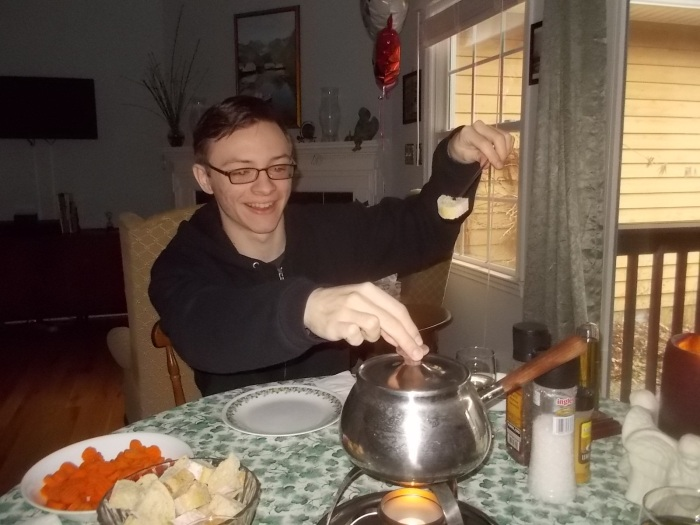 030717 D with fork poised for fondue.jpg