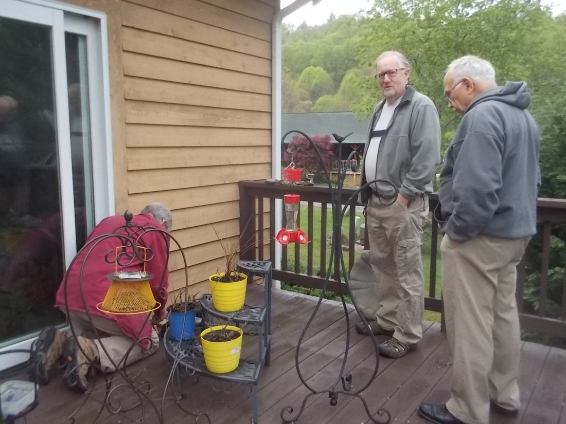 042517 Bob and John watch Paul repair burned outlet.jpg