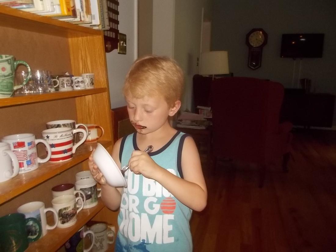 062417 Logan eats icing.JPG