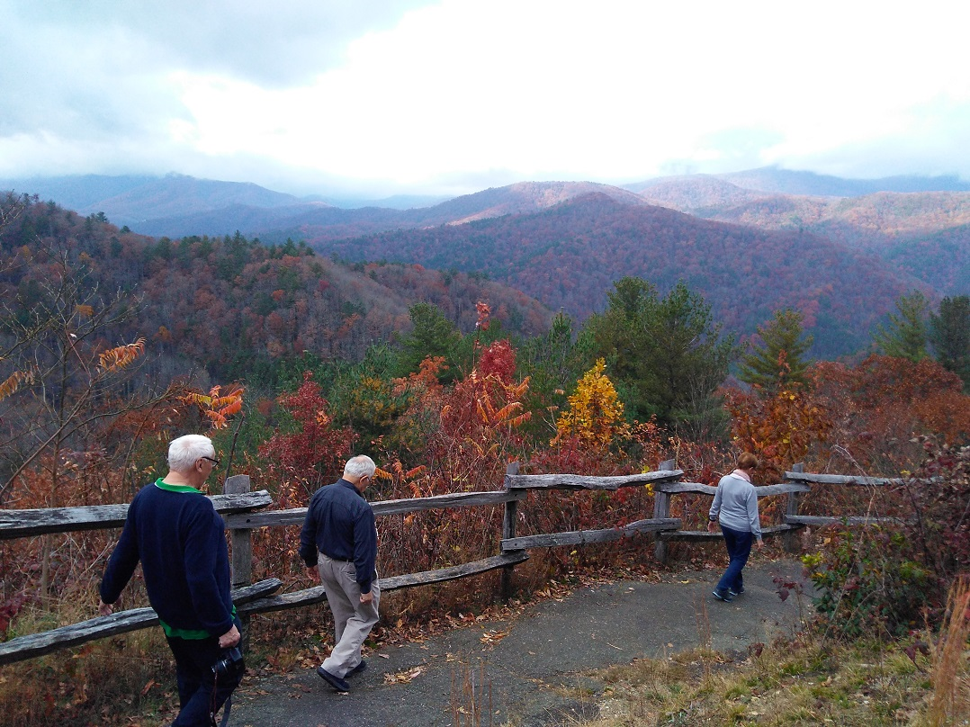 110617 Franz John Maria leaving overlook near Cataloochee.jpg