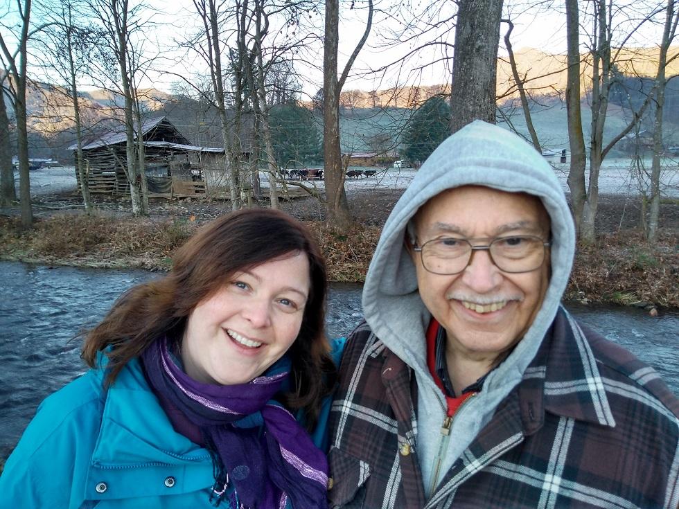 111717 Lise JC at creek.jpg