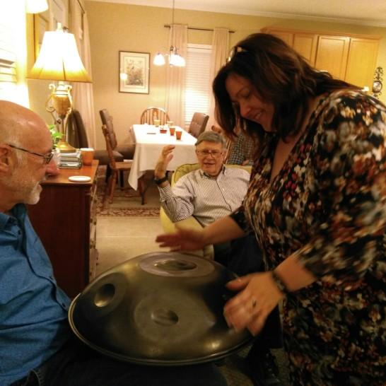 111817 Lise tries hand pan