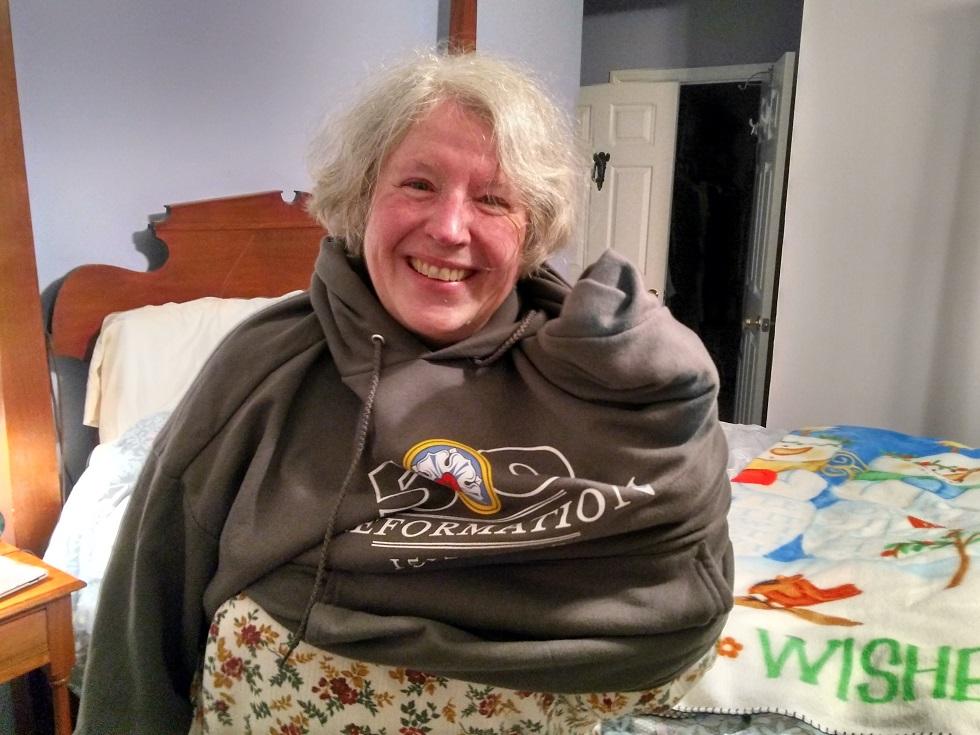 112217 Anne stuck in a sweatshirt.jpg