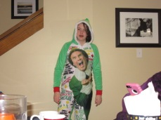 122817 Kate in Elf onesie