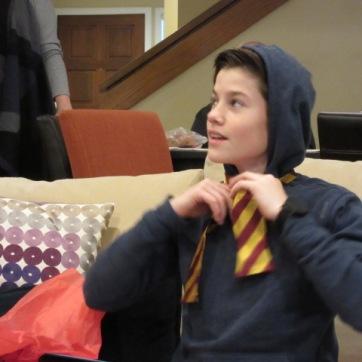 122817 Max tying bowtie