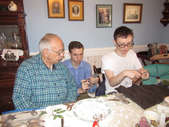 010118 JC N D look at family pieces.JPG