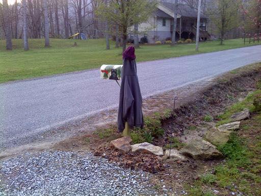 040318 Marla's take on my jacket warming her mailbox.jpg