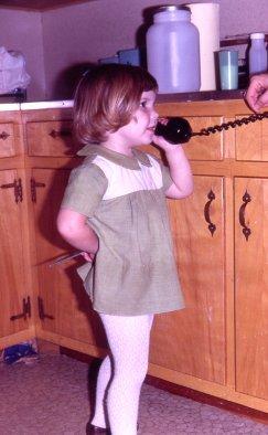 7010 Kathie on 3rd birthday talking to E