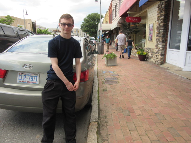 060118 5 David parallel parked against the curb.JPG