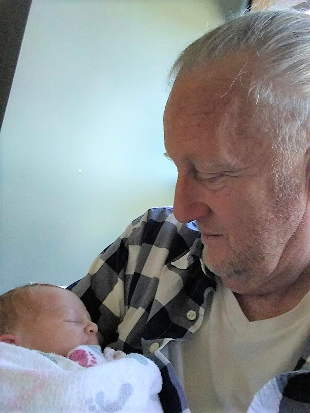 060418  Bob with  new grandson Pico.jpg