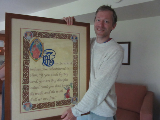 062618 Lars with his illustrated manuscript.JPG