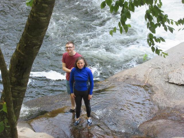 071218 David and Kate enjoy shallow water at Baby Falls.JPG