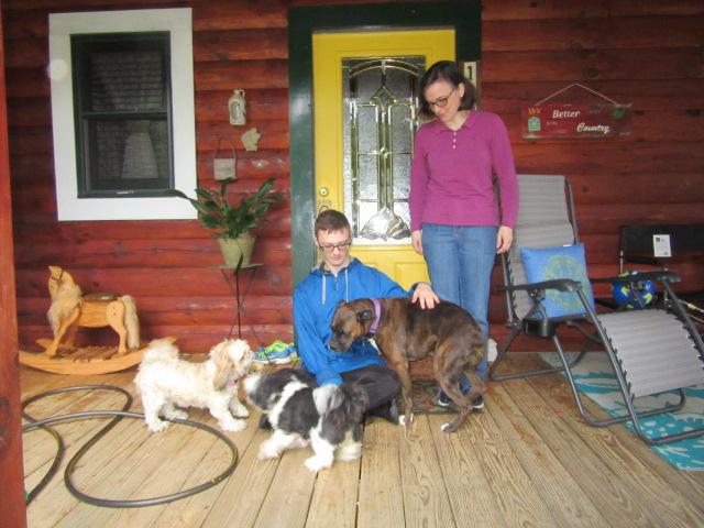 071918 David Kate with dog friends.JPG