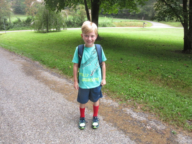 082218 Logan second day of school.JPG