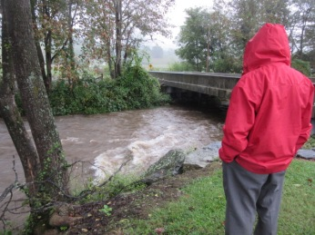 091618 John sees rising creek
