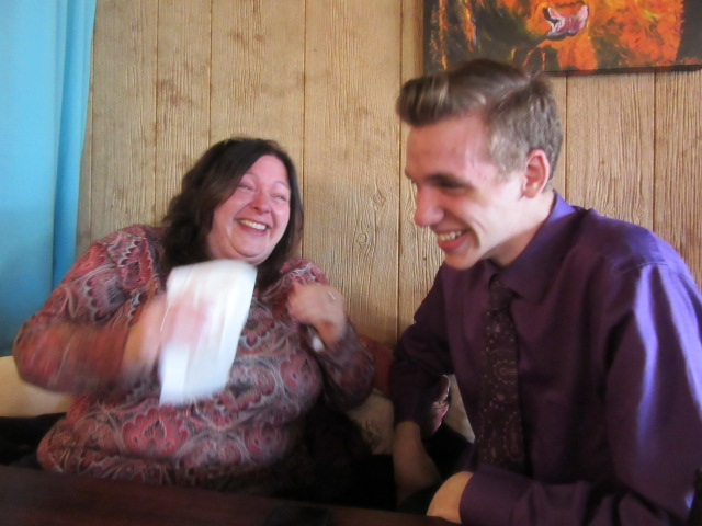 111818 Lise and Nate convulsed in laughter when I spewed water.JPG