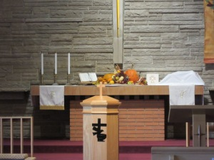 112218 1 Teddy bear on the altar
