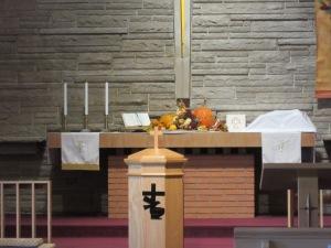 112218 1 Teddy bear on the altar