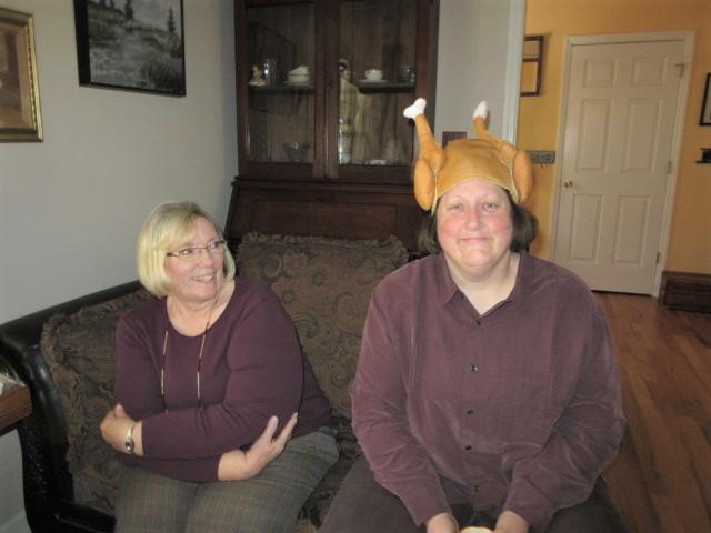 112218 2 Connie and turkey-head Marla.JPG