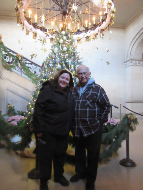 112718 Christmas Biltmore Lise JC with tree.JPG