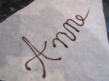 122218 AM BDay (10) My name in chocolate