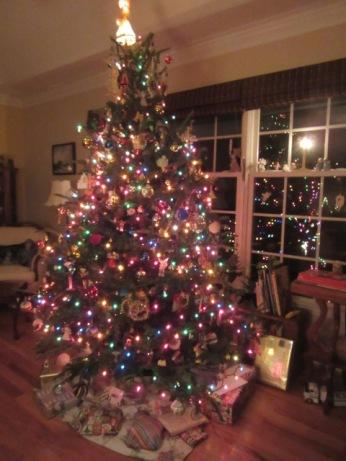 122418 Christmas tree lit