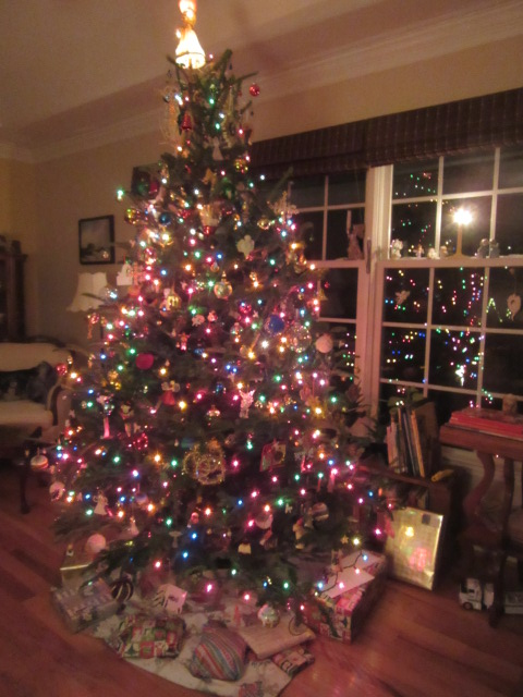 122418 Christmas tree lit