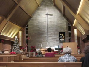 122418 Our church at 11 pm Christmas Eve